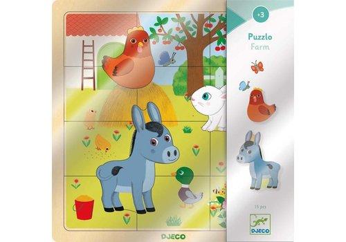 Djeco Djeco - houten puzzel - boerderij