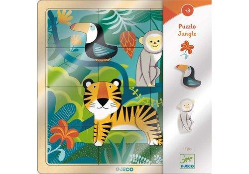Djeco Djeco - houten puzzel - jungle