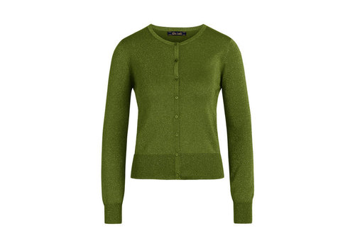 King Louie King Louie - cardi roundneck organic lapis  - forest green