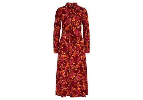 King Louie King Louie - rosie midi dress doherty - merlot brown