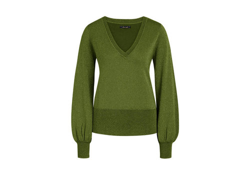 King Louie King Louie - v neck bell sleeve top lapis - forest green