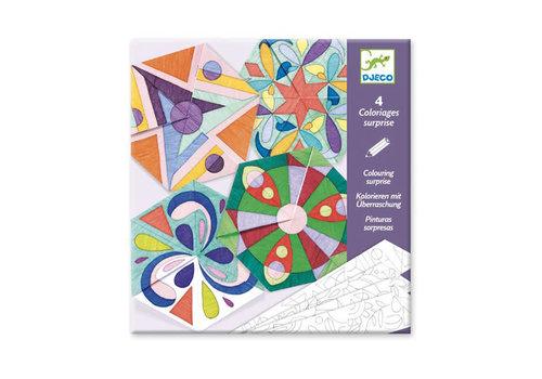 Djeco Djeco - kleurplaten - rosette mandalas