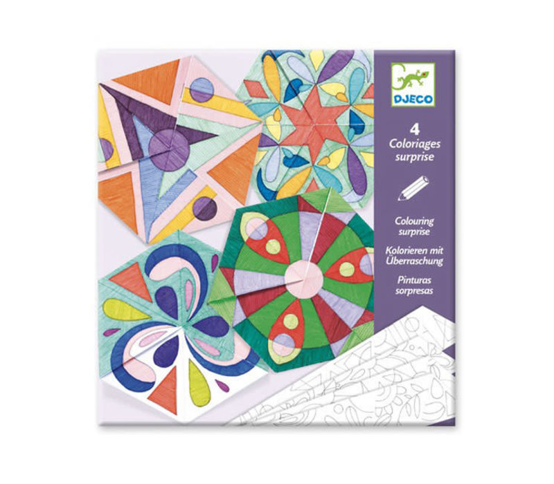 Djeco - kleurplaten - rosette mandalas