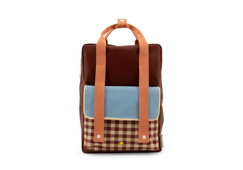 Sticky Lemon Sticky Lemon - backpack large - gingham cherry red + sunny blue + berry swirl