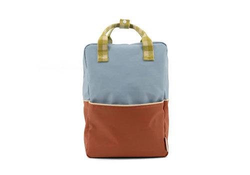 Sticky Lemon Sticky Lemon - backpack large - colourblocking blueberry + willow brown + pear green