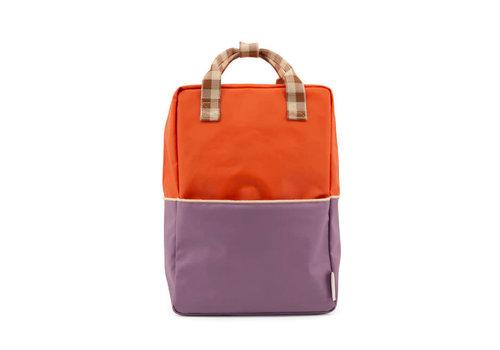 Sticky Lemon Sticky Lemon - backpack large - colourblocking orange juice + plum purple + schoolbus brown