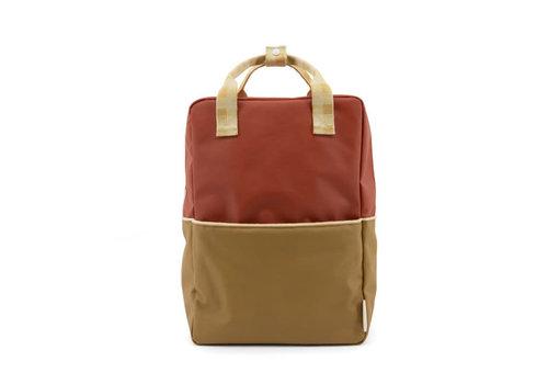 Sticky Lemon Sticky Lemon - backpack large - colourblocking fig brown + apple tree + vanilla sorbet