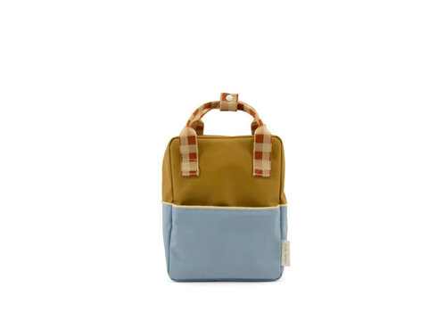 Sticky Lemon Sticky Lemon - backpack small - colourblocking blueberry + willow brown + pear green