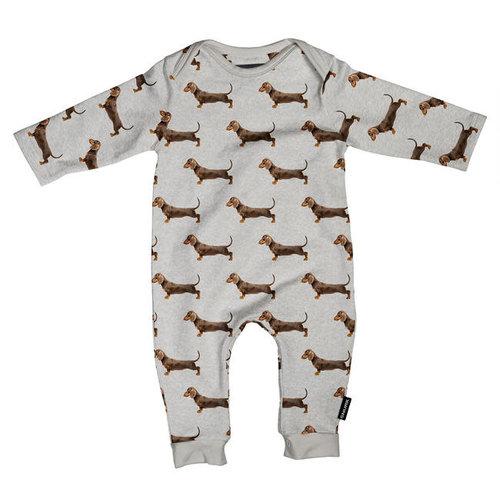 Snurk - jumpsuit babies - james grey
