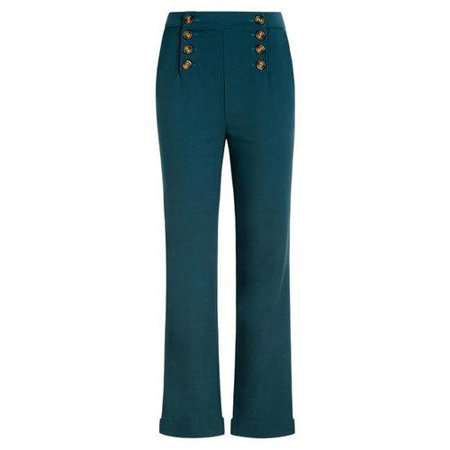 King Louie - lara sailor pants broadway - dragonfly green
