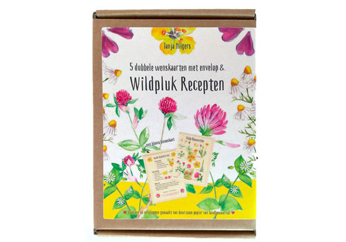 Tanja Hilgers Tanja hilgers - wildpluk recepten - set van 5 dubbele kaarten