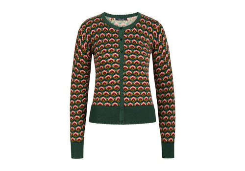 King Louie King Louie - cardi roundneck muffin - sycamore green