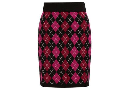 King Louie King Louie - knit skirt bibi check - black