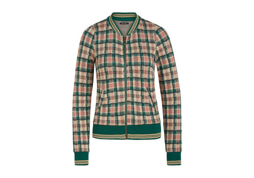 King Louie King Louie - iris jacket west end check - peacock green