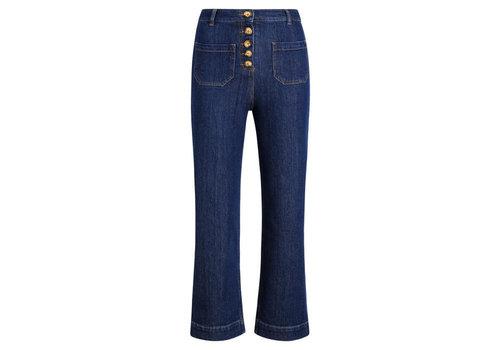 King Louie King Louie - high waist pocket pants golden denim - indigo blue