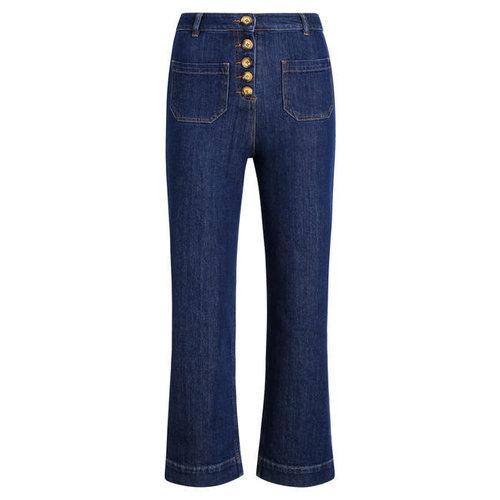 King Louie - high waist pocket pants golden denim - indigo blue