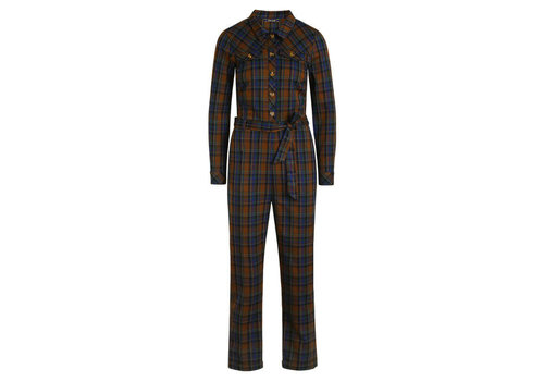 King Louie King Louie - olive jumpsuit zappa check - dazzling blue