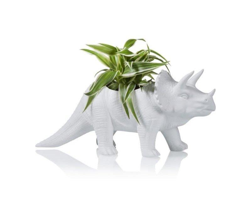 Bitten - bloempot - triceratops