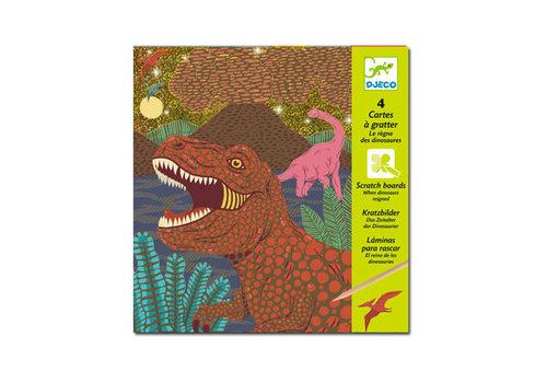 Djeco Djeco - kraskaarten - dinosauriërs