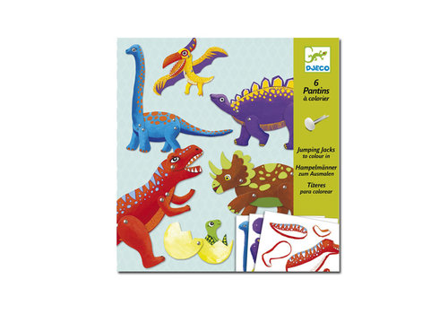 Djeco Djeco - trekpoppen om in te kleuren - dino