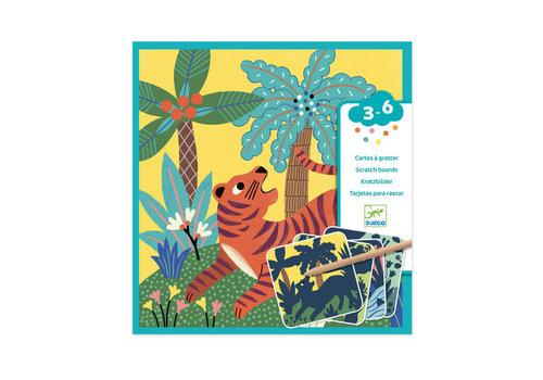 Djeco Djeco - kraskaarten - grote dieren