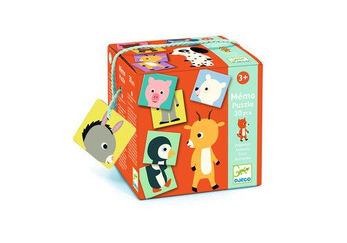Djeco Djeco - memory/puzzel - dieren