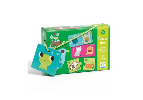 Djeco Djeco - duo puzzel - habitat