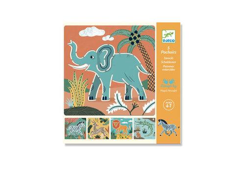 Djeco Djeco - sjablonen - wilde dieren