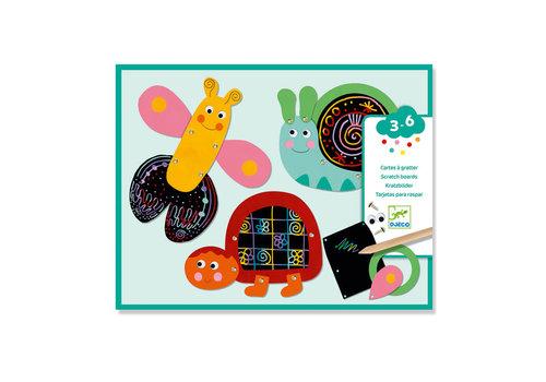 Djeco Djeco - kraskaarten - grappige dieren