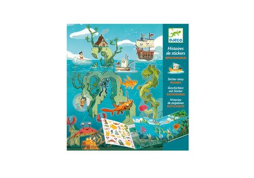 Djeco Djeco - sticker verhalen - de zee