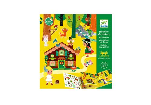 Djeco Djeco - sticker verhalen - het magische woud