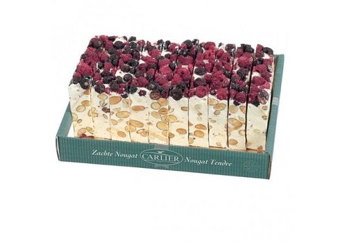 Carlier Carlier nougat cake Cranberry 180g 11st