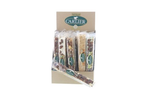 Carlier Carlier display nougat reep mix traditioneel 100g 25st