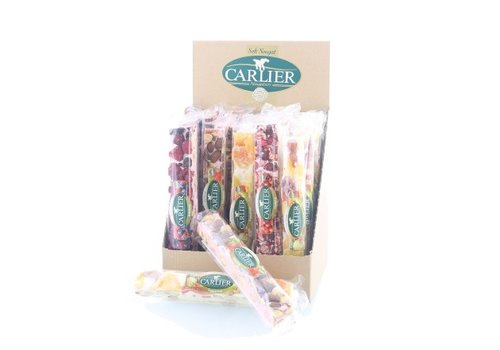 Carlier Carlier display nougat reep mix fruit 100g 25st