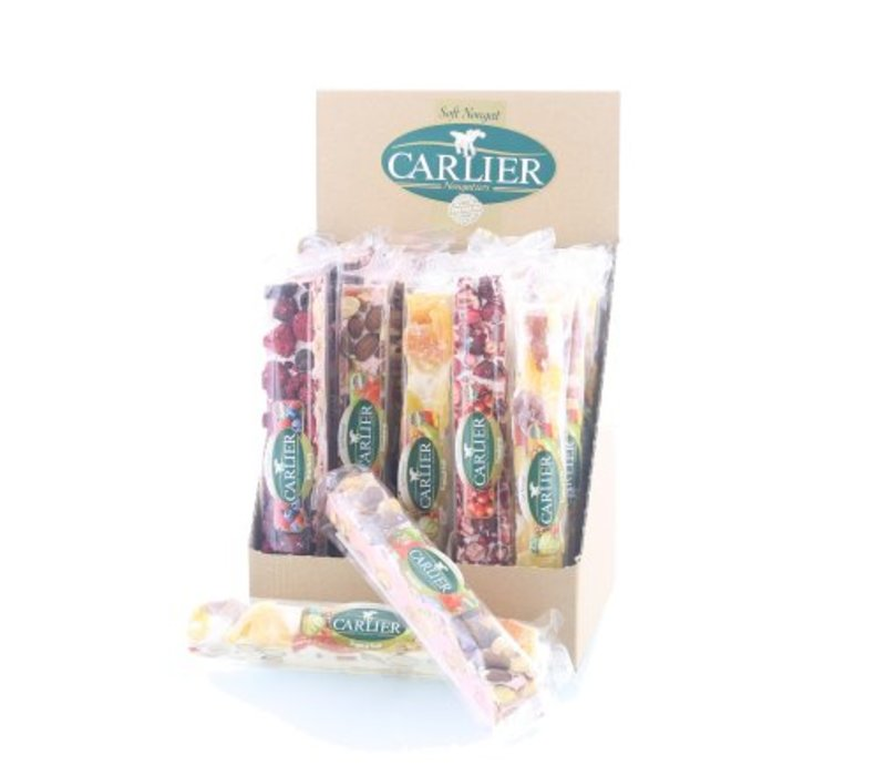 Carlier display nougat reep mix fruit 100g 25st