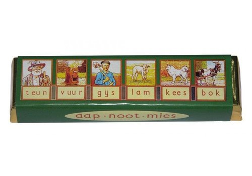 Chocolade Aap Noot Mies repen 70g 40st