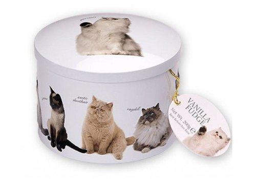 Gardiners of Scotland Cat round tin fudge 200g 12st