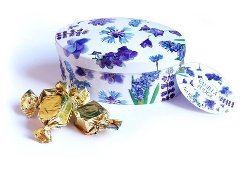Gardiners Purple flower tin fuge 120g 18st