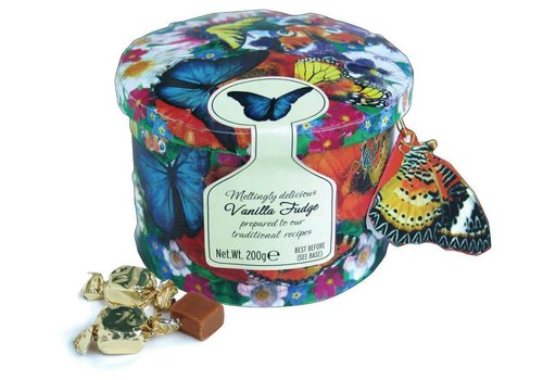 Gardiners Butterfly tin fudge 200g 12st