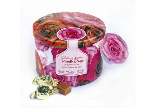 Gardiners of Scotland Roses tin fudge 200g 12st