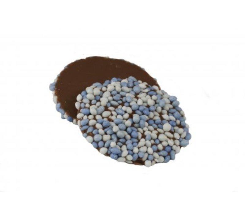 Oublies geboorte anijs blauw/wit 14g 2kg