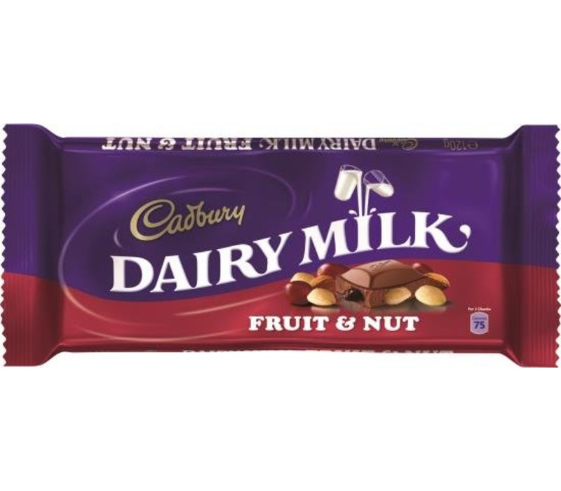 Cadbury Fruit & Nut 120g 18tb