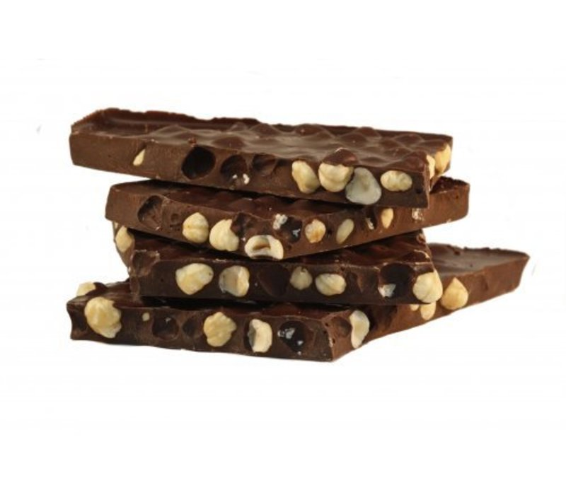 Hazelnoot breek chocolade puur 5kg