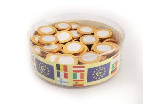 Chocolade euromunten 38mm cilo 1kg