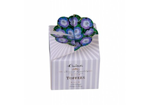 Churchill's Floral Bouquet blue 250g Toffees 12st