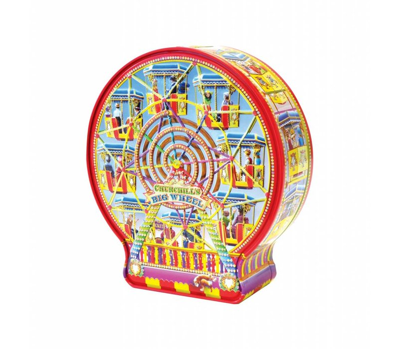 Big Wheel tin 300g Salted Caramel fudge 12bl