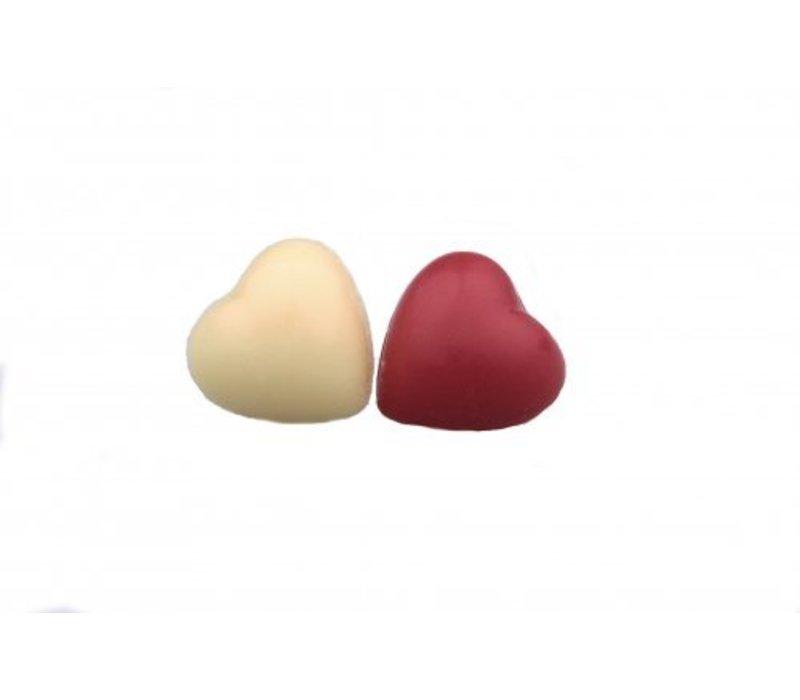 Mini hartjes rood-wit 2g 2,5kg