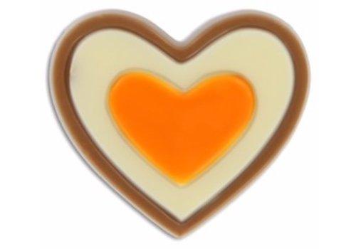 Hartje oranje gekl.melk 15g 2,16kg