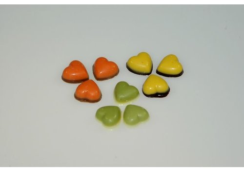 Mini hartjes gekleurd mpw 3kl.2,5kg