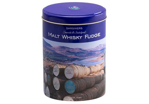 Gardiners Whisky Fudge Barrels Tin 200g 12bl.